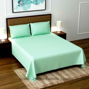 Pista Green Super Soft Double Bedsheet