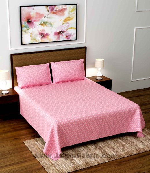 Baby Pink Super Soft Double Bedsheet