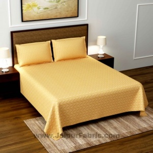 Creamish Gold Super Soft Double Bedsheet