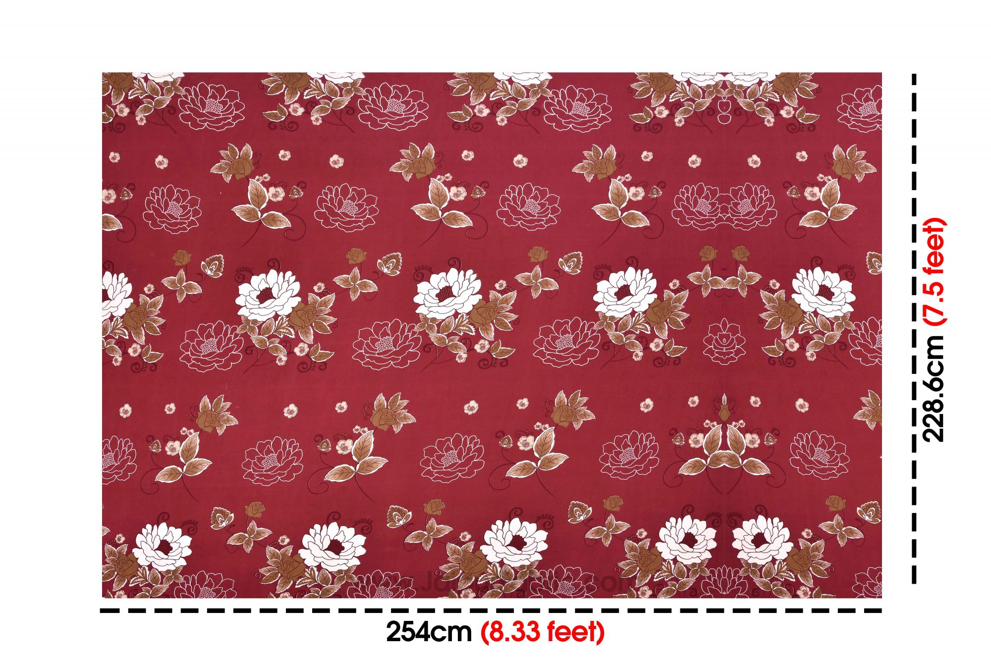 Blood Red Super Soft Double Bedsheet