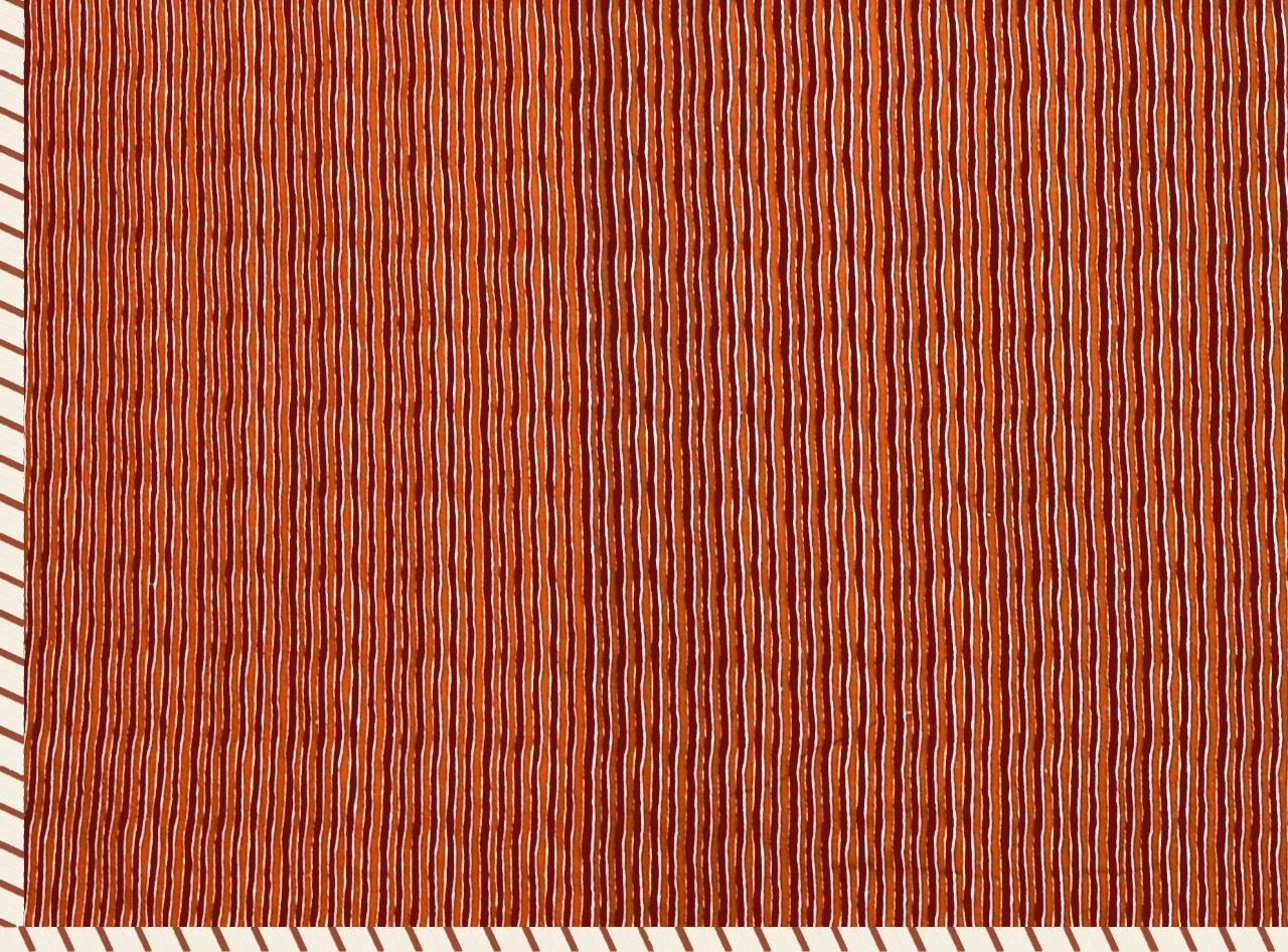 Pure Cotton Orange Ethnic Pattern Reversible Single Bed Dohar