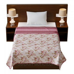 Flowers Bunch Pink Cotton Soft Touch Reversible Single Bed Dohar/Blanket