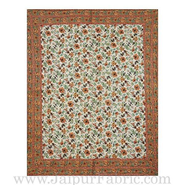 Jaipur Rajai Mughal Print Fine Cotton Double Bed Quilt