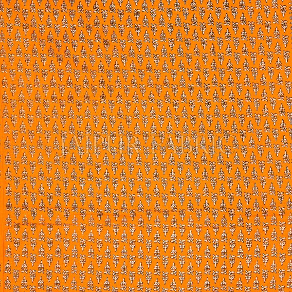 Yellow Base Golden Print Fine Cotton Double Quilt