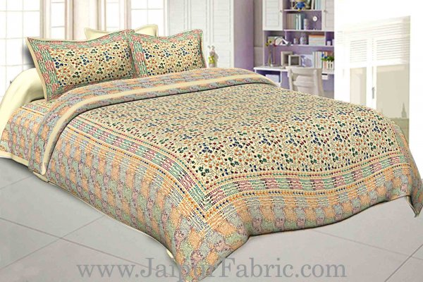 jaipur Razai Double Bed With Satrangi Small Multi  Floral  Pattern Combo Pack