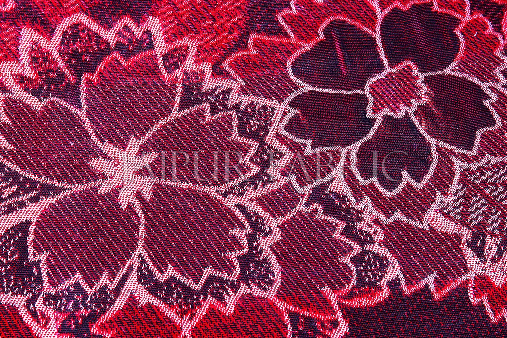 Magenta Color Velvet Floral Design Diwan Set