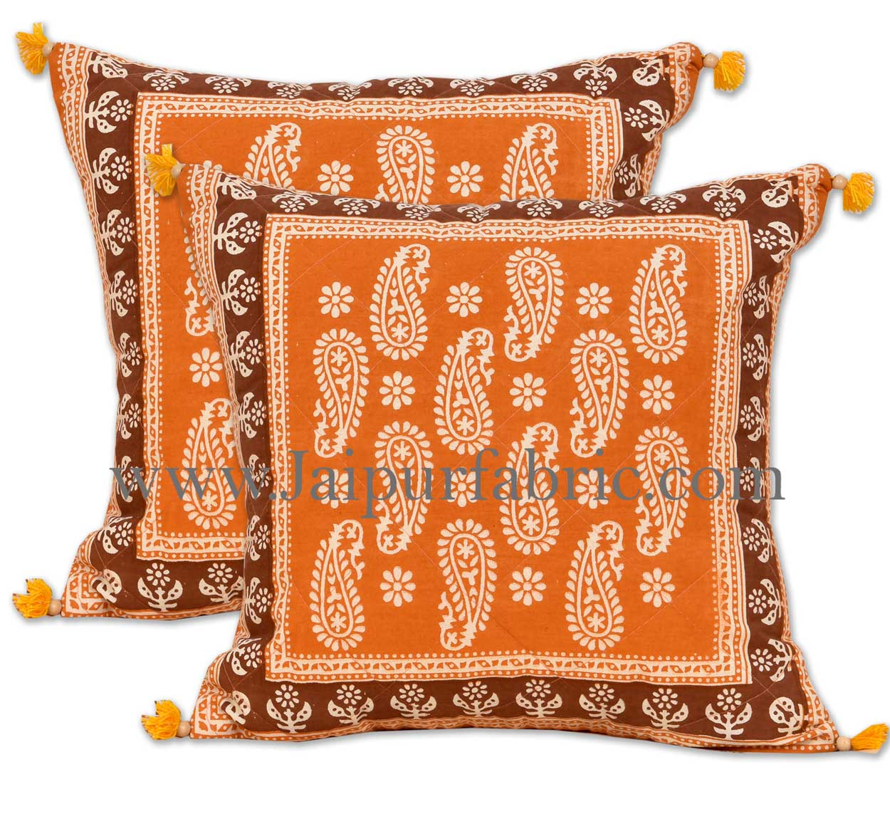 Orange maroon floral paisley diwan set