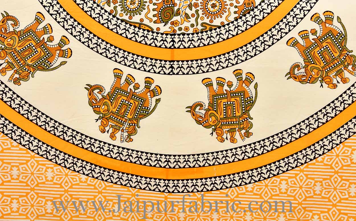 Sunrise Orange royal elephant ride diwan set