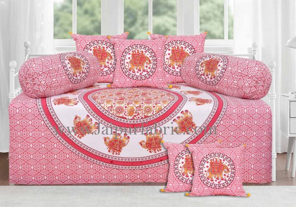 Rose pink royal elephant ride diwan set
