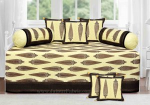 Black Border Paisley Gold Print Diwan Set