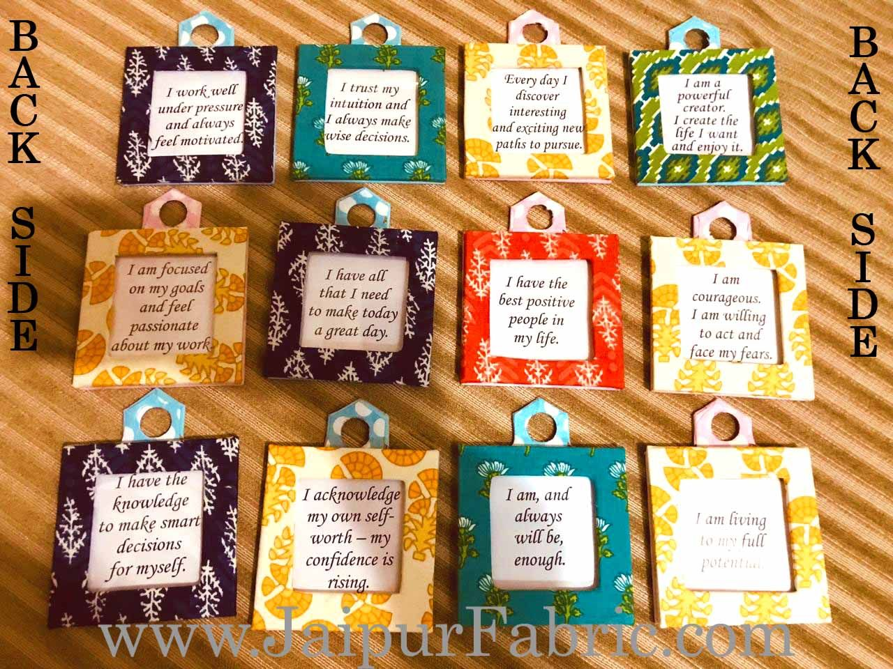 Fabric Calendar with Daily Positive Affirmations