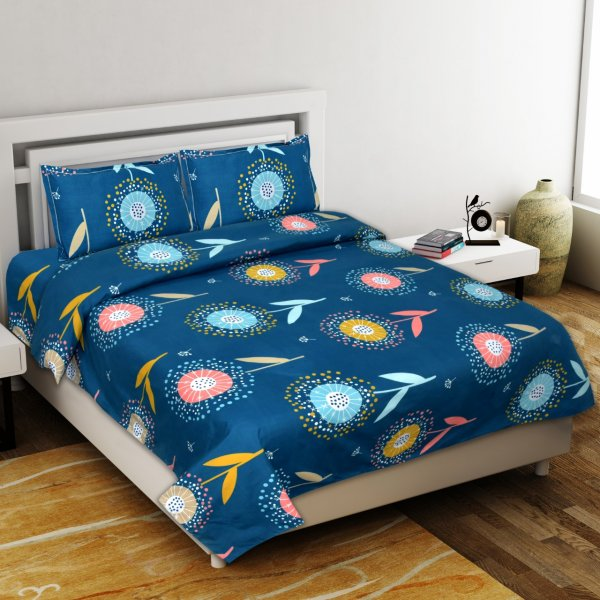Fine Twilight Premium Poly Cotton Double Bedsheet