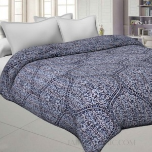 Retro Grey Cotton Gudri Katha Work Dohar Comforter