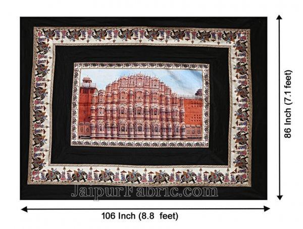 Digital Print Silk Bedsheet Jaipur Hawa Mahal