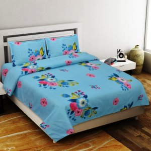 Heaven Bliss Premium Poly Cotton Double Bedsheet