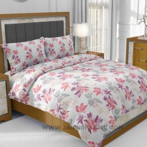 Purple Floral Fete King Size Bedsheet