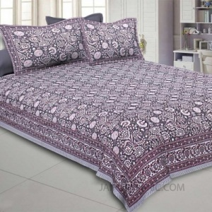 Lava Grey King Size Bedsheet
