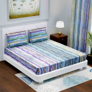 Deep Aquatic King Size Double BedSheet