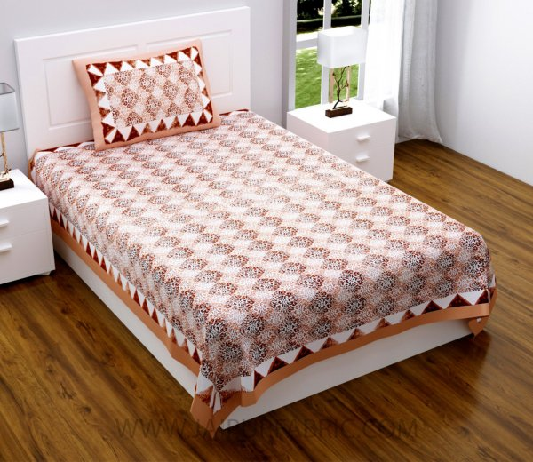 Traditional Delight Maroon Single Bedsheet