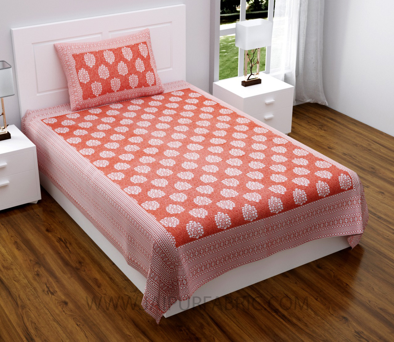Pink Traditional Badge Single Bedsheet