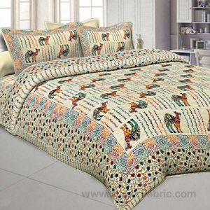 jaipur Razai Double Bed With Satrangi Camel Pattern Combo Pack