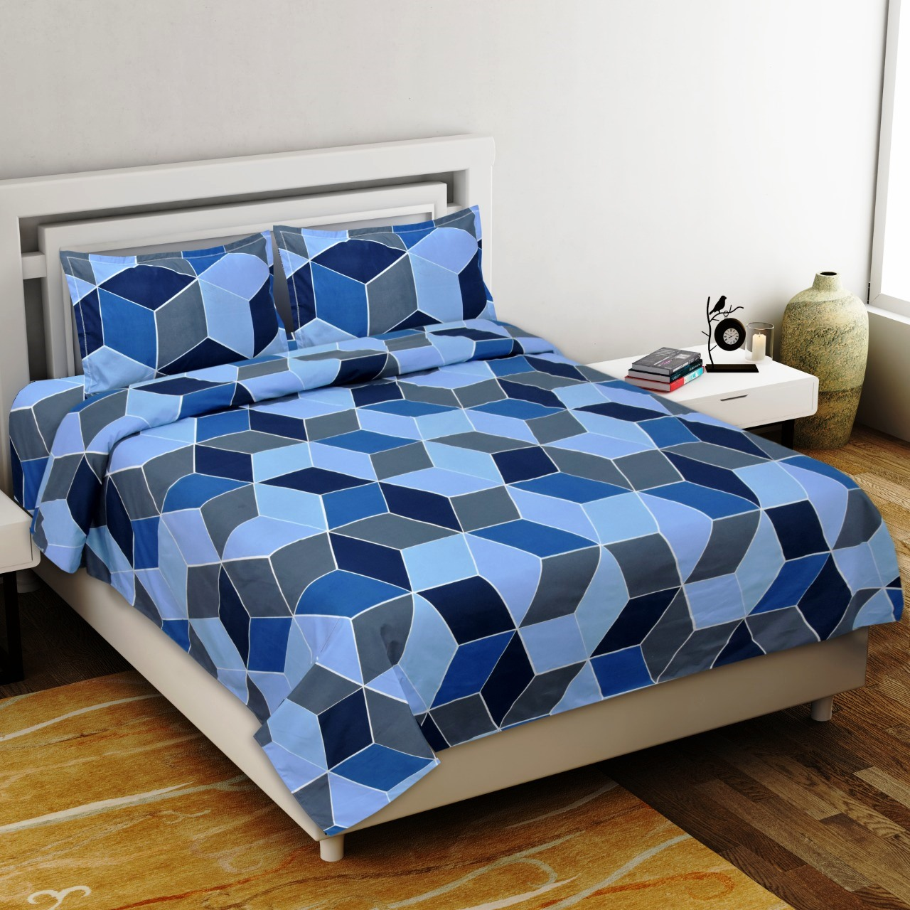 Seamless Softness Premium Poly Cotton Double Bedsheet