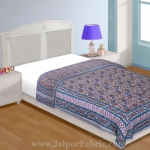 Jaipuri Quilt Motif Print 200Gsm Fine Cotton Single Bed Rajai