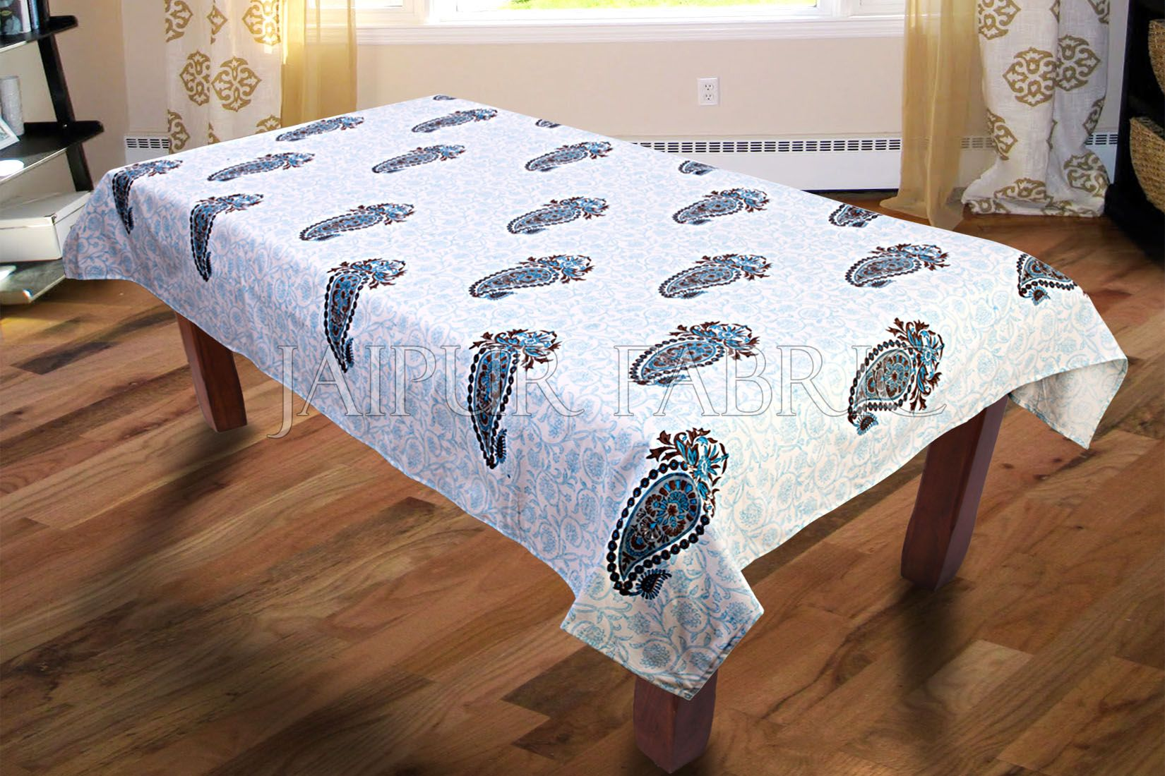 Blue Keri Print Table Cover