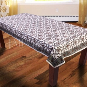 Brown Designer Block Print Table Cover