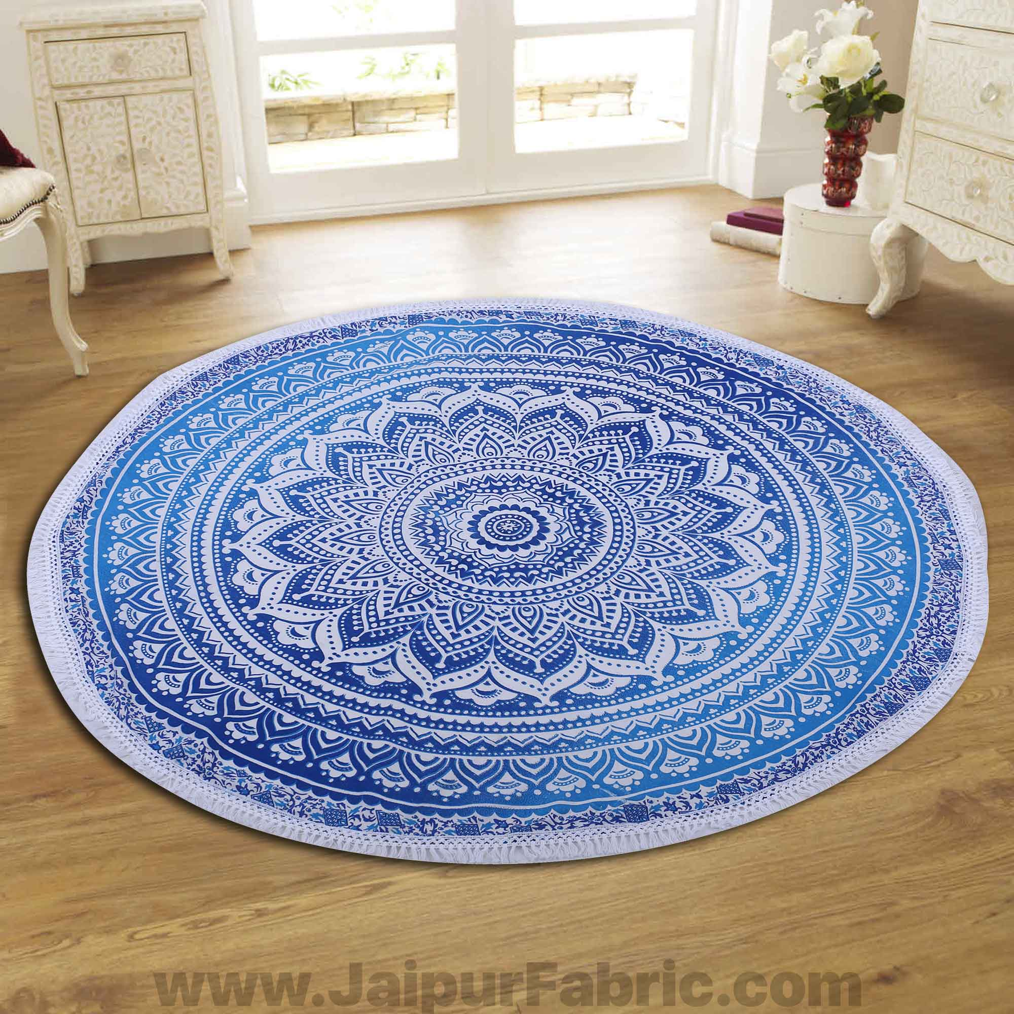 "Pink Ombre Mandala Printed Wall Hanging Round Roundies Beach Throw Cotton Yoga Mat Table Cloths Table Cover Picnic Mat Tapestry Picnic Blanket Mat 72"" by Handicraft-Palace"