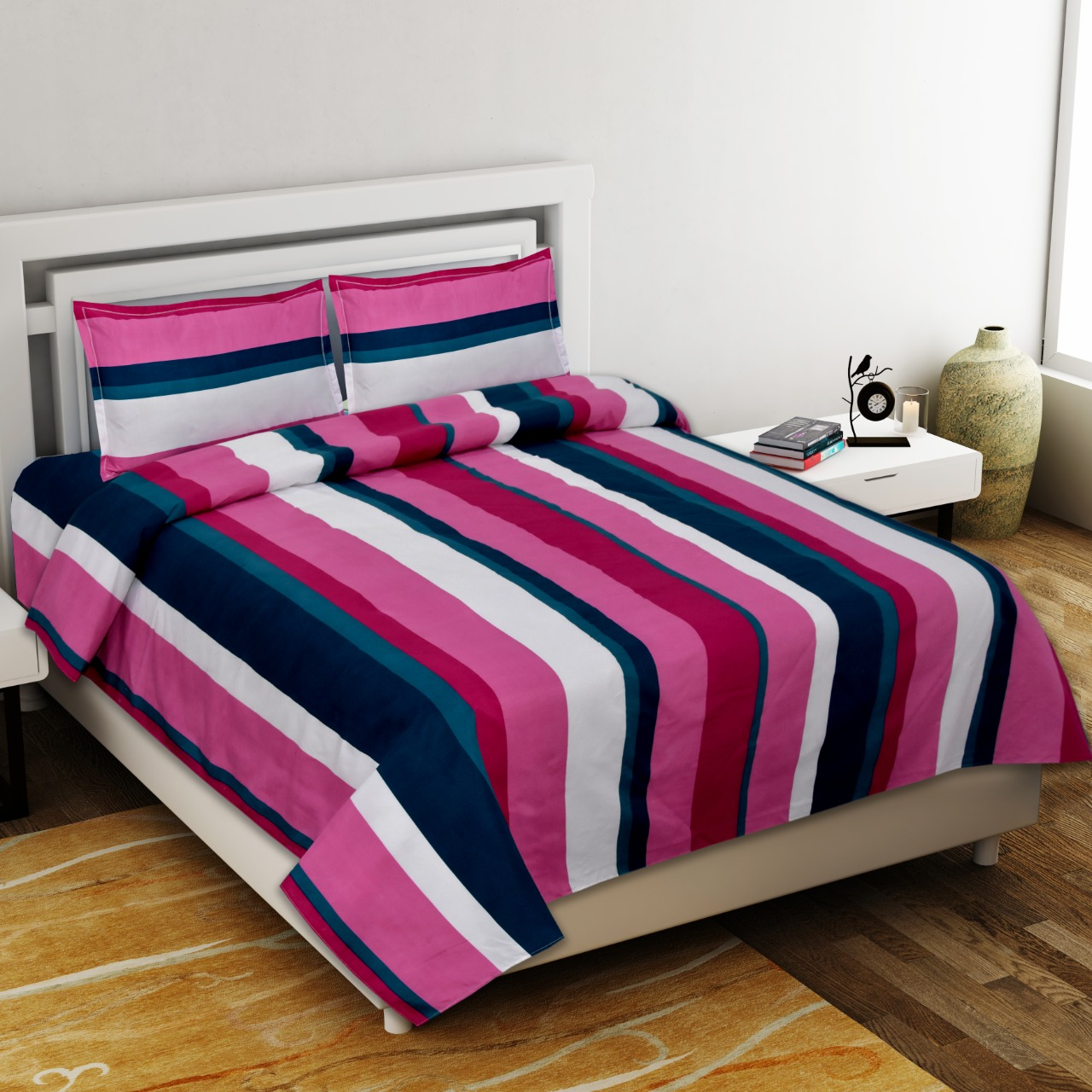 Tranquility Premium Poly Cotton Double Bedsheet