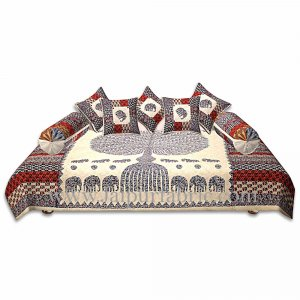 Diwan Set Elephat With Tree print kantha work