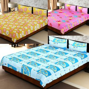COMBO24 - Set Of 3 Double Bed Sheet