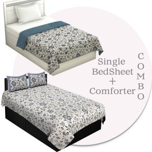 Combo152 Single Bedsheet + Comforter