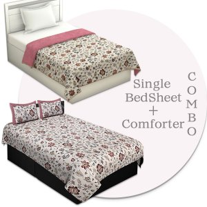 Combo151 Single Bedsheet + Comforter
