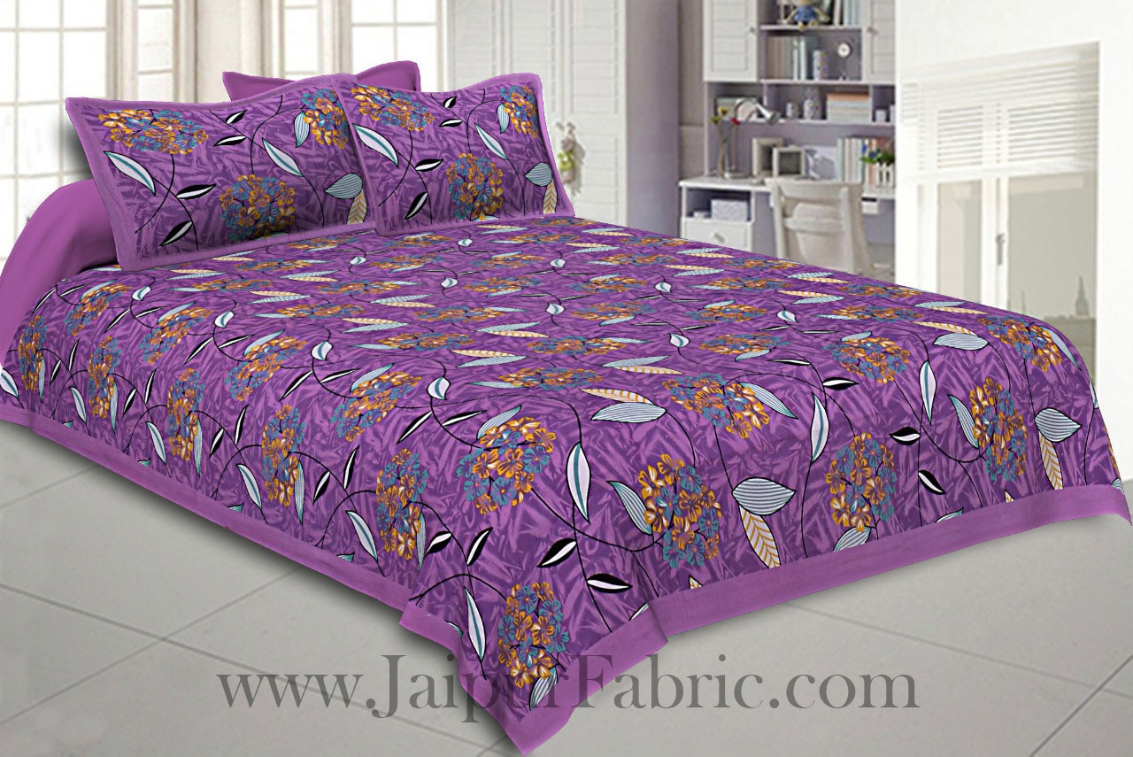 COMBO119 Beautiful Multi color 4 Bedsheet + 8 Pillow Cover