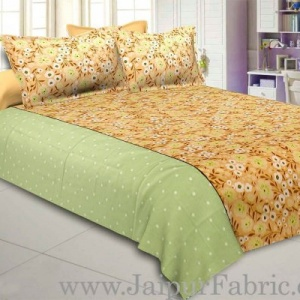 Flourishing Flora Peach Double Bedsheet