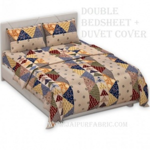 COMBO199 Duvet Cover + Matching Double Bedsheet  with Pillow Cover