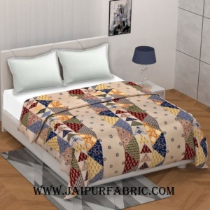 Barmeri Pastel Twill Cotton Double Bed Colorful Printed Duvet Cover